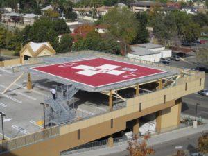 12000-pound-aluminum-design-on-top-deck-of-parking-garage