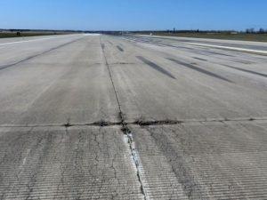 Concrete pavement damaged